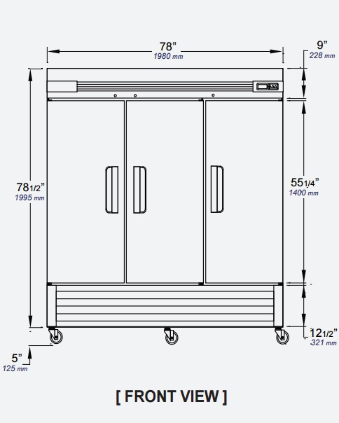 Reach-In Solid Swing Door Freezer L-Series